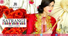 Bonanza Satrangi Spring/Summer Collection 2014 (Lawn & Pret)