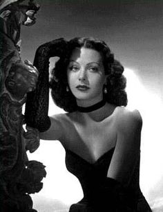 Hedy Lamarr - gorgeous AND an inventor. Yes, please.