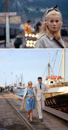 Catherine Deneuve in The Umbrellas of Cherbourg (1964). Costume design by Jacqueline Moreau / Nørr Film