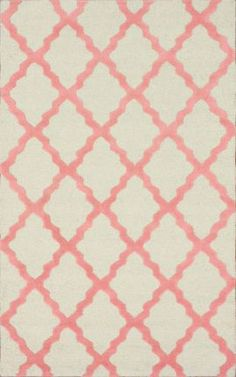 Rugs USA Homespun Moroccan Trellis Bubble Gum Rug
