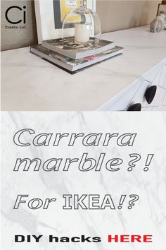 Create-ist faux honed marble covering for the IKEA Gottskar worktop. Easy bubble-free DIY installation. Watch the tutorials!