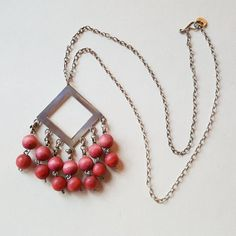 "Classic Vintage Aarikka Wood Bead and Silver Plated Pendant ""Harlekiini"", Silver Plate, 1960s, Vintage Jewelry, Plating, Pendant Necklace, Beads, Wood, Classic, Accessories"