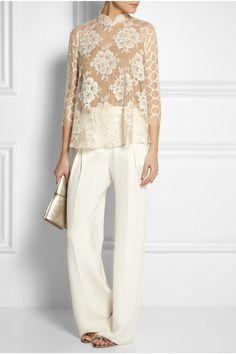 Biyan|Semolina lace blouse