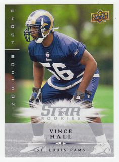 Vince Hall RC # 199 - 2008 Upper Deck First Edition Football NFL Rookie