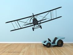 Giant Biplane Wall Art  60x18 by StreamlineDesign on Etsy, $24.95