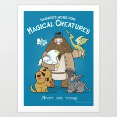 Hagrid's+Home+for+Magical+Creatures+Art+Print+by+Anna-Maria+Jung+-+$17.68