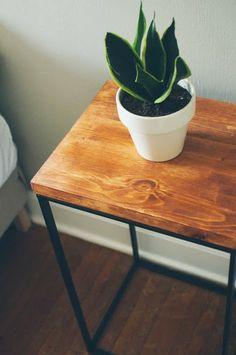 Laundry Hamper turned Beautiful Modern Side Table - IKEA Hackers