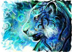 """Project Blue Tiger"" - Art Print by Louis Dyer on Wanelo"