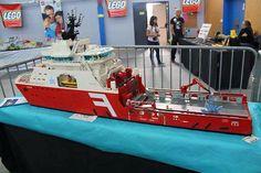 Embedded Legos, Lego Boot, Oil Company Logos, Lego Coast Guard, Oil Rig Jobs, Lego Fire, Lego Gifts, Lego Ship, Lego Boards