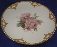 KPM Berlin Porcelain rose Dinner Plate