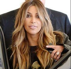 21 Ideas hair color highlights blonde caramel love her Love Hair, Great Hair, Biolage Hair, Kim Kardashian Hair, Honey Blonde Hair, Hair Color Highlights, Layered Hair, Long Layered Bangs, Beach Hair