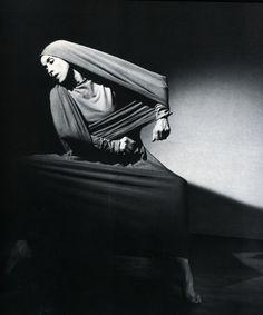 """Martha Graham - """"Lamentation"""" photographed by Barbara Morgan, 1935."""