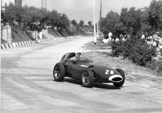 Stirling Moss won the 1957 Pescara Grand Prix in 1957 driving his Vanwall.