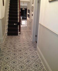 Encaustic Tiles (Barcelona 460) in hallway
