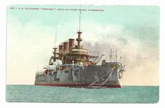 "The U.S. Navy Battleship ""Nebraska"" ca.1915 Postcard"