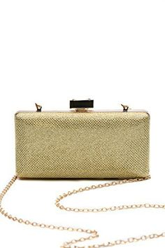 New Trending Clutch Bags: Women Clutch Purse Wallet Hard Case Glitter Evening Bag Handbag With Chain Strap (gold). Women Clutch Purse Wallet Hard Case Glitter Evening Bag Handbag With Chain Strap (gold)  Special Offer: $15.50  144 Reviews This shiny box clutch will bright up your festive look and serve you as an elegant and practical part of the party / cocktail / evening / prom outfit. The glitter...