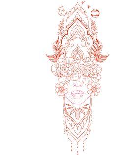 Dot Tattoos, Girly Tattoos, Flower Tattoos, Sleeve Tattoos, Body Art Tattoos, Tatoos, Dragon Tattoo Outline, Tattoo Outline Drawing, Outline Drawings