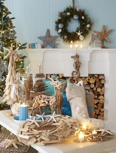 coastal wishes white christmas holiday decor inspiration for the home beallsflorida coastal christmas decor - Coastal Christmas Decor