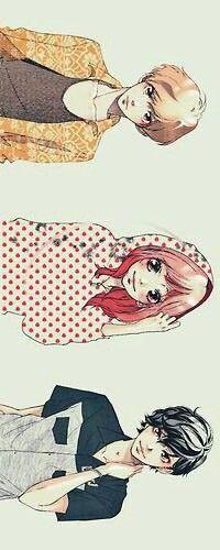 Ao Haru Ride, Futaba, Toma y Kou Manga Anime, Manga Art, Cute Anime Pics, Anime Love, Strobe Edge Manga, Tanaka Kou, Mabuchi Kou, Dbz, Best Romance Anime