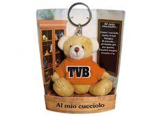 TEDDY T.V.B. CUCCIOLO. Porta chiavi a forma di peluche con dedica