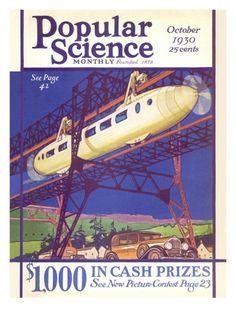 Front cover of Popular Science Magazine: October 1, 1930 Premium Poster at Art.com