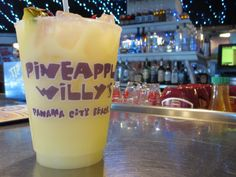A pineapple willy drink at Pineapple Willys in Panama City Beach, Florida