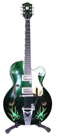 Gretsch Custom-Painted Brian Setzer Hot Rod Hollowbody Electric Guitar - Green Sparkle