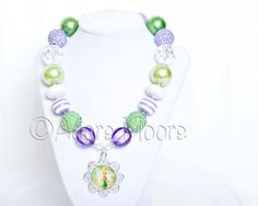 Tinkerbell Disney Kids Necklace Chunky by AdoreMooreBoutique, $22.00