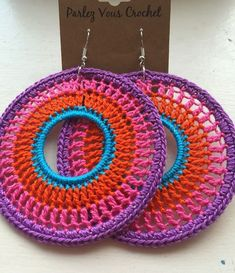 Boho crochet earrings …: