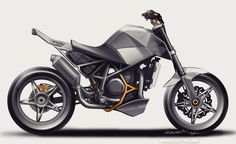 KTM 690 Stunt showmodel original sketch | DERESTRICTED