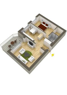 one bedroom apartment layouts - google search | houses/apartments