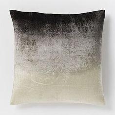 Ombre Velvet Pillow Cover - Slate #westelm, 18x18, $39.00