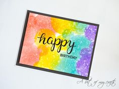 A bit of my crafts: Happy birthday card with distress inks and DIY ste...