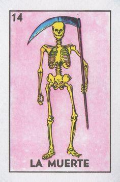 La Muerte (Death) | Lone Quixote #loteria #art #mexicanbingo