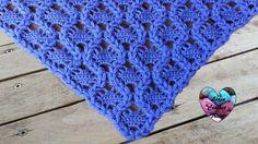 Crowns shawl crochet (english subtitles) - YouTube
