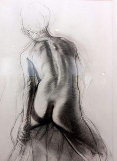 pierre noire sur papier par Ernest Pignon-Ernest.                              …