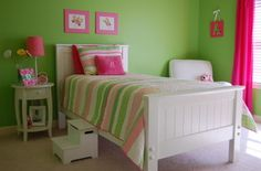 color combo hot pink and lime green