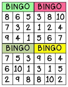 Page 2 of 7 Math Bingo, Bingo Games, Math Games, Number Activities, Number Games, Learning Activities, Numbers Preschool, Teaching Kindergarten, Preschool Activities
