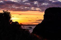 Sunset at Dunbar Harbour, East Lothian, Scotland. 27th August 2013