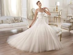 OLA Beautiful Bridal Dresses, Wedding Dresses For Sale, Bridal Wedding Dresses, Beautiful Bride, Pronovias Bridal, Simple Gowns, Wedding Dress With Pockets, Weddings, Bodas