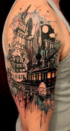 Pirate ship tattoo colorofgrace barrettlove tattoos for Best tattoo artists in brooklyn