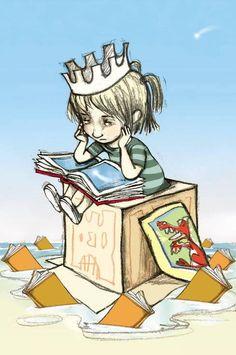 Princessreader /Princesa lectora (ilustración de Maria Luisa Torcida)