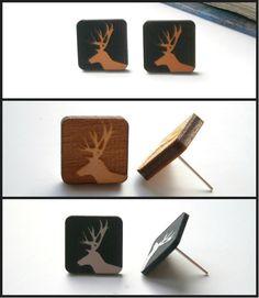 Elk Earrings Engraved Elk Laser Cut  Medium by LaserCutJewelry, $9.95