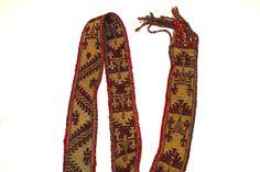 Faja Mapuche con dos simbolos, primera mitad Siglo XX