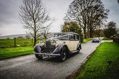 Heaton House Farm Wedding Venue, Cheshire, arrival, Pixies In The Cellar Photography, wedding car, wedding day, retro car, Easy Weddings Blog