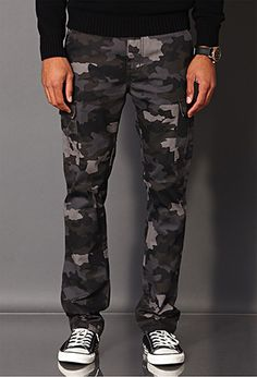 Combat Camo Grey/Black Pants | 21 MEN - 2000072517