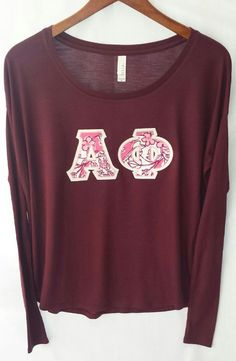 Maroon Bella Long-Tight Sleeves With Alpha Phi by UniversityShop