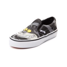4a7d14ff529 Youth Disney and Vans Slip-On Cheshire Cat Skate Shoe