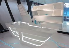 TRON Kitchen, Corian by Nicolas Gwenael. (Curiosity)