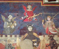 Ambrogio Lorenzetti's The Allegory of Bad Government , fresco, Sala Dei Nove, Siena , 1338 -1339.